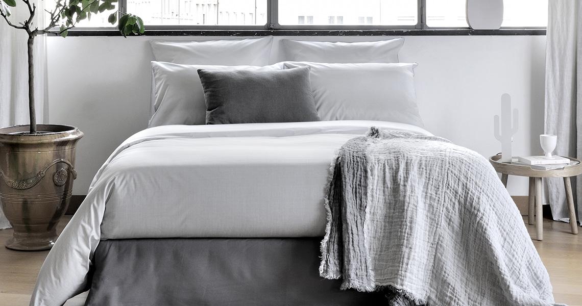 Parure de lit en percale de coton de chez